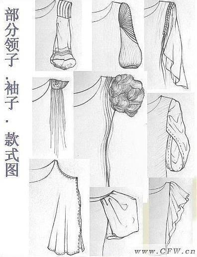 女装细节手绘作品-女装细节手绘款式图