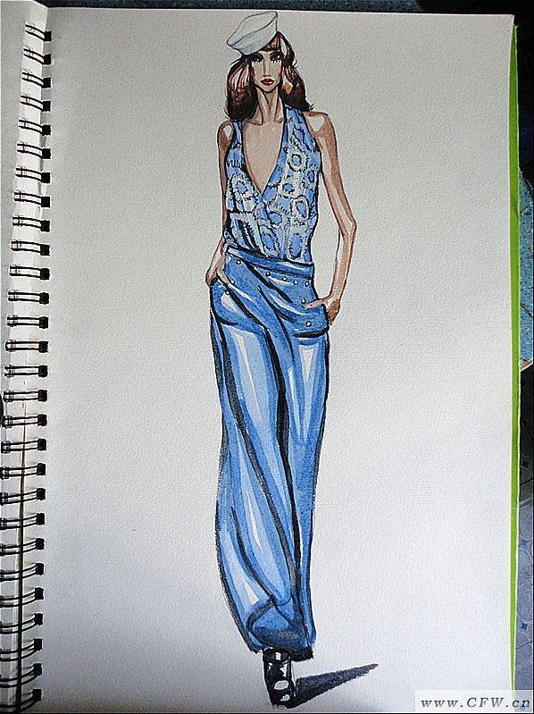 服装手绘-女装设计-服装设计