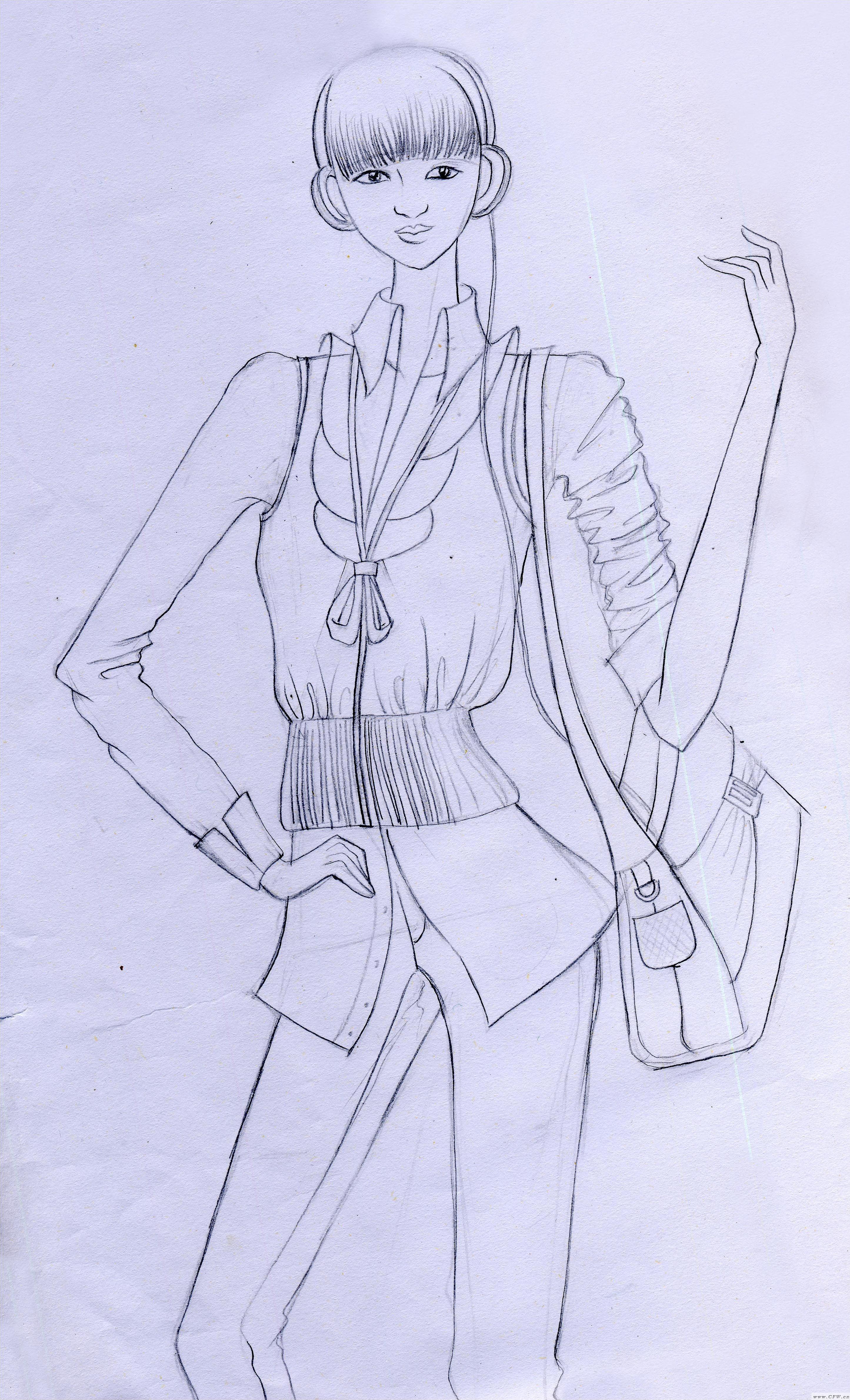 适合中考画的手绘线描