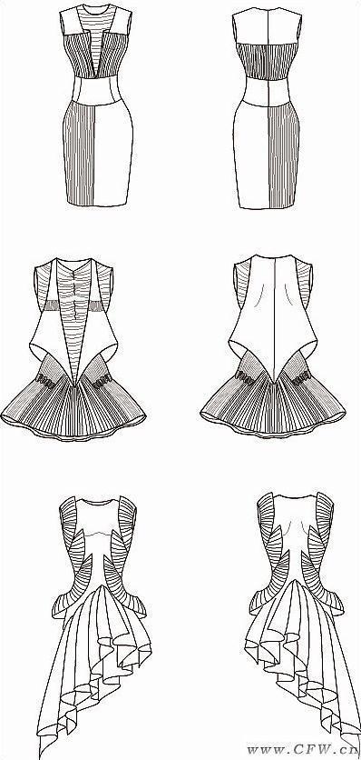 服装画针织结构素材