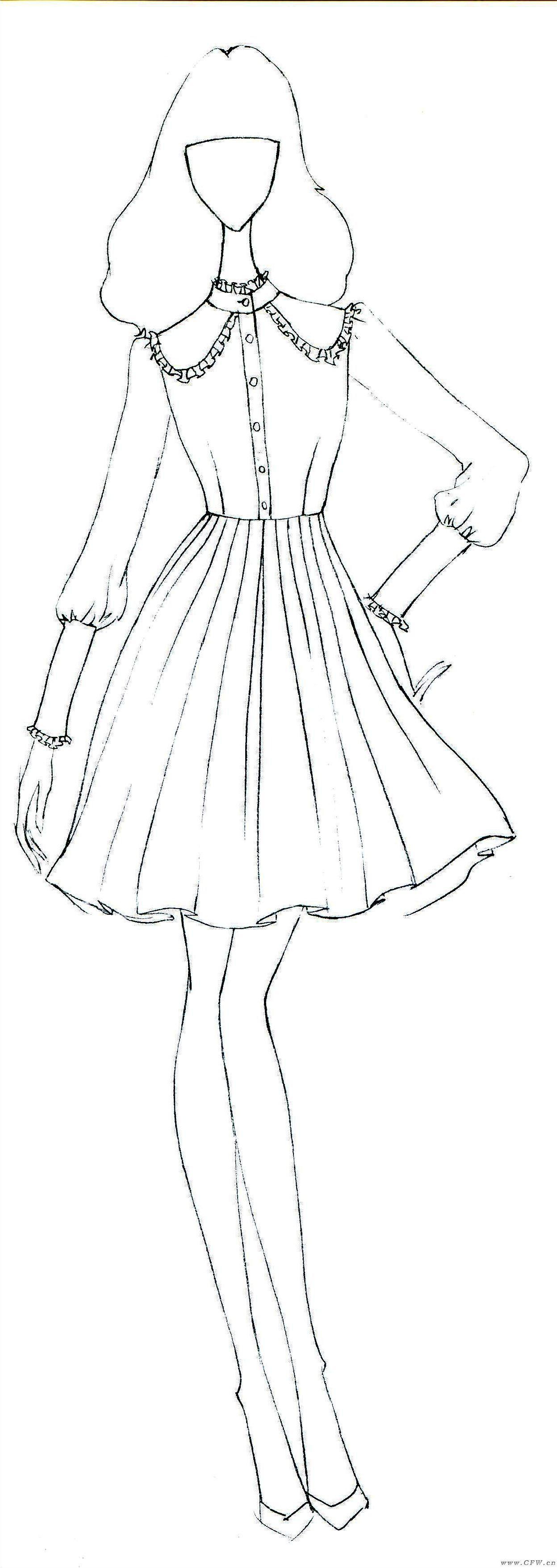 连衣裙-女装设计-服装设计