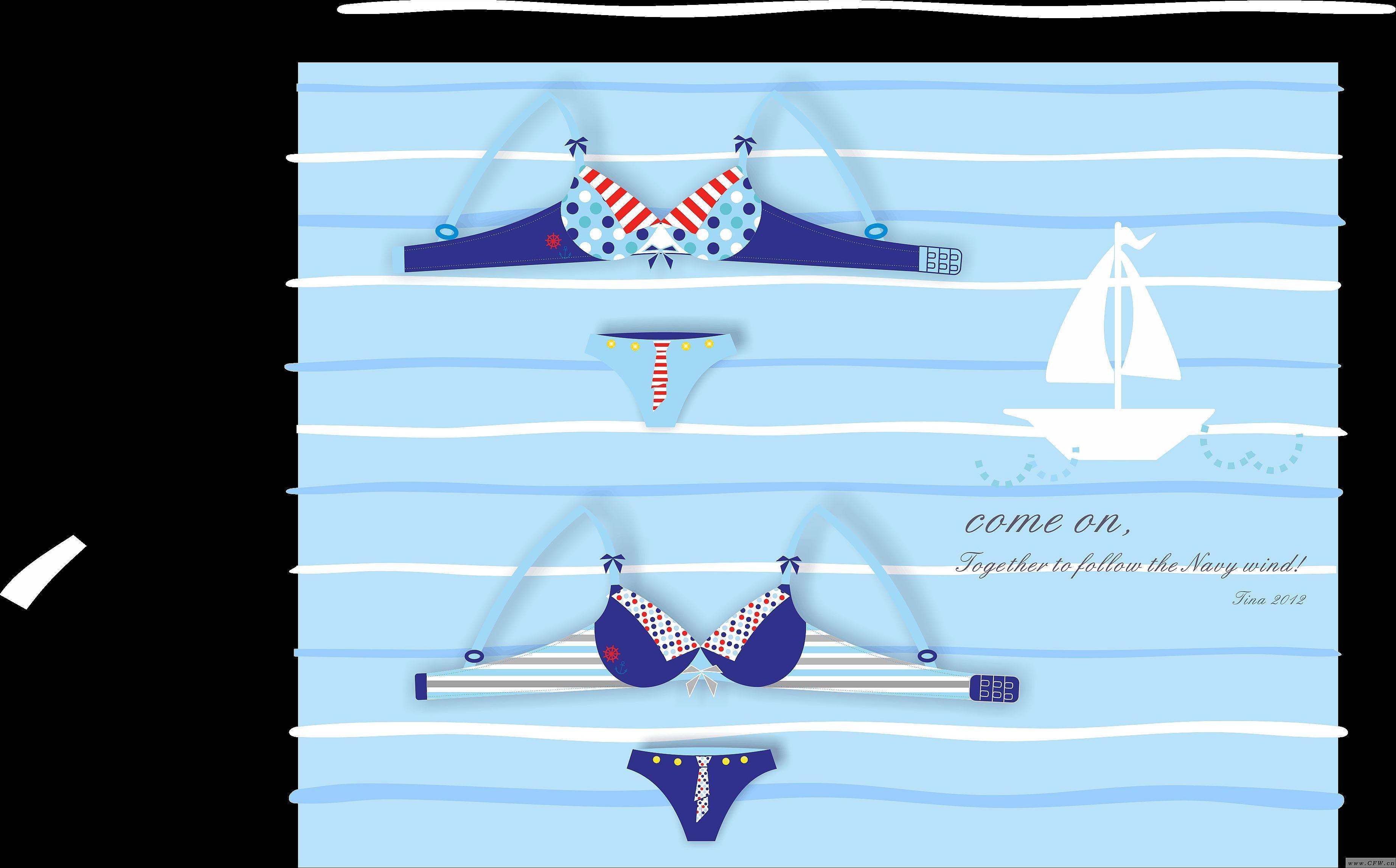 狂爱海军风-内衣/家居设计-服装设计