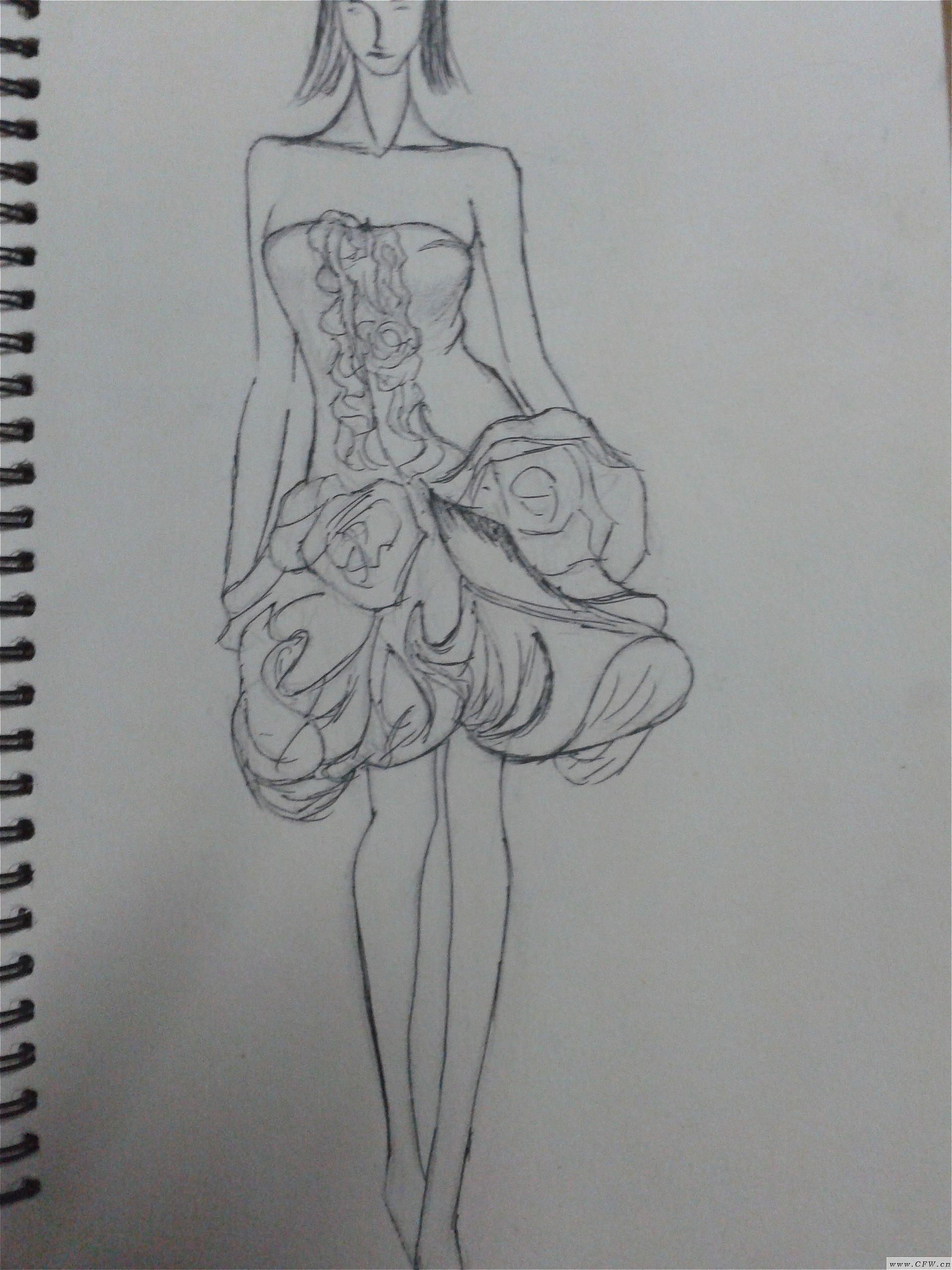 绽放-婚纱礼服设计-服装设计