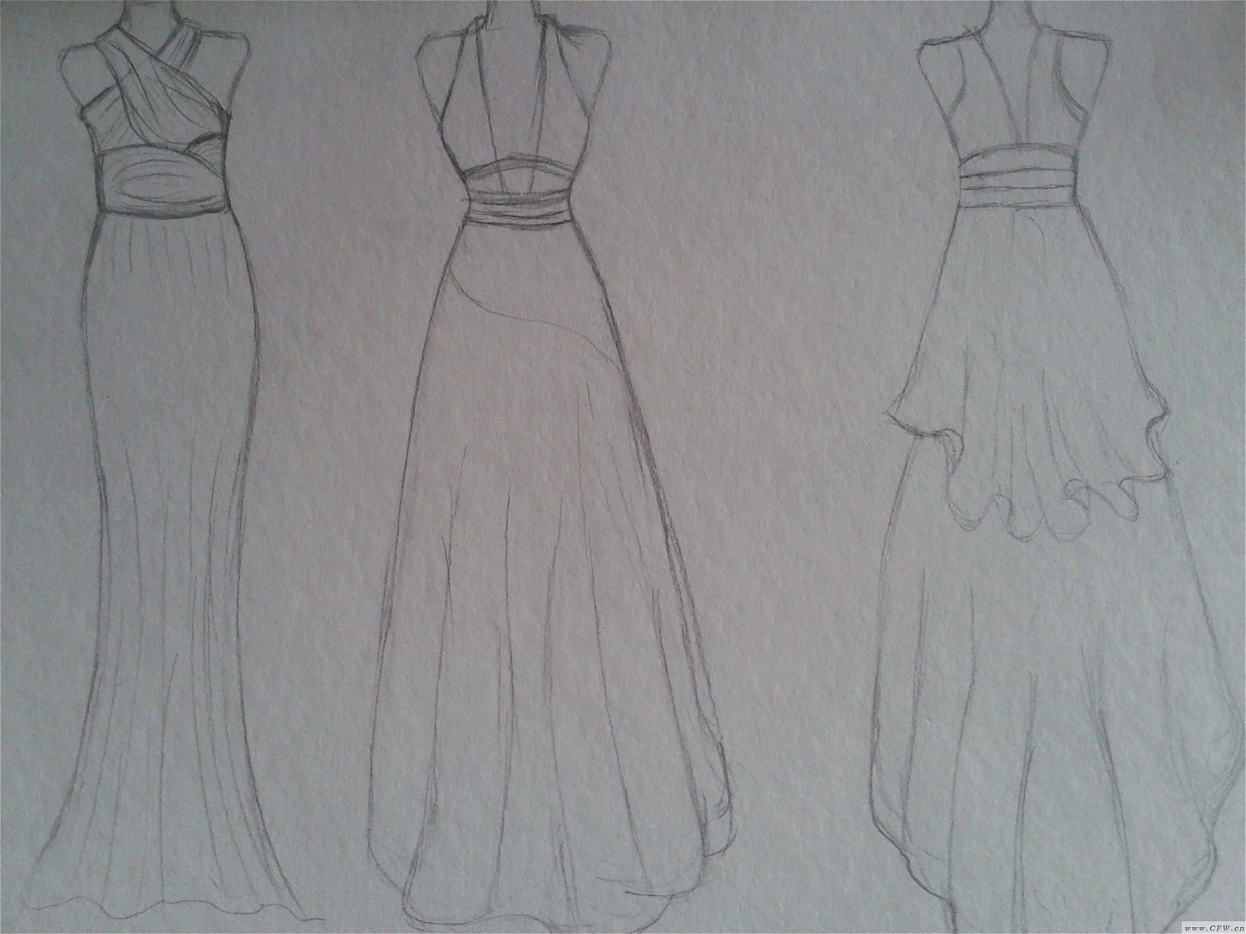休闲礼服-婚纱礼服设计-服装设计