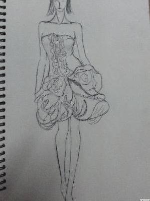 素描花苞图片步骤