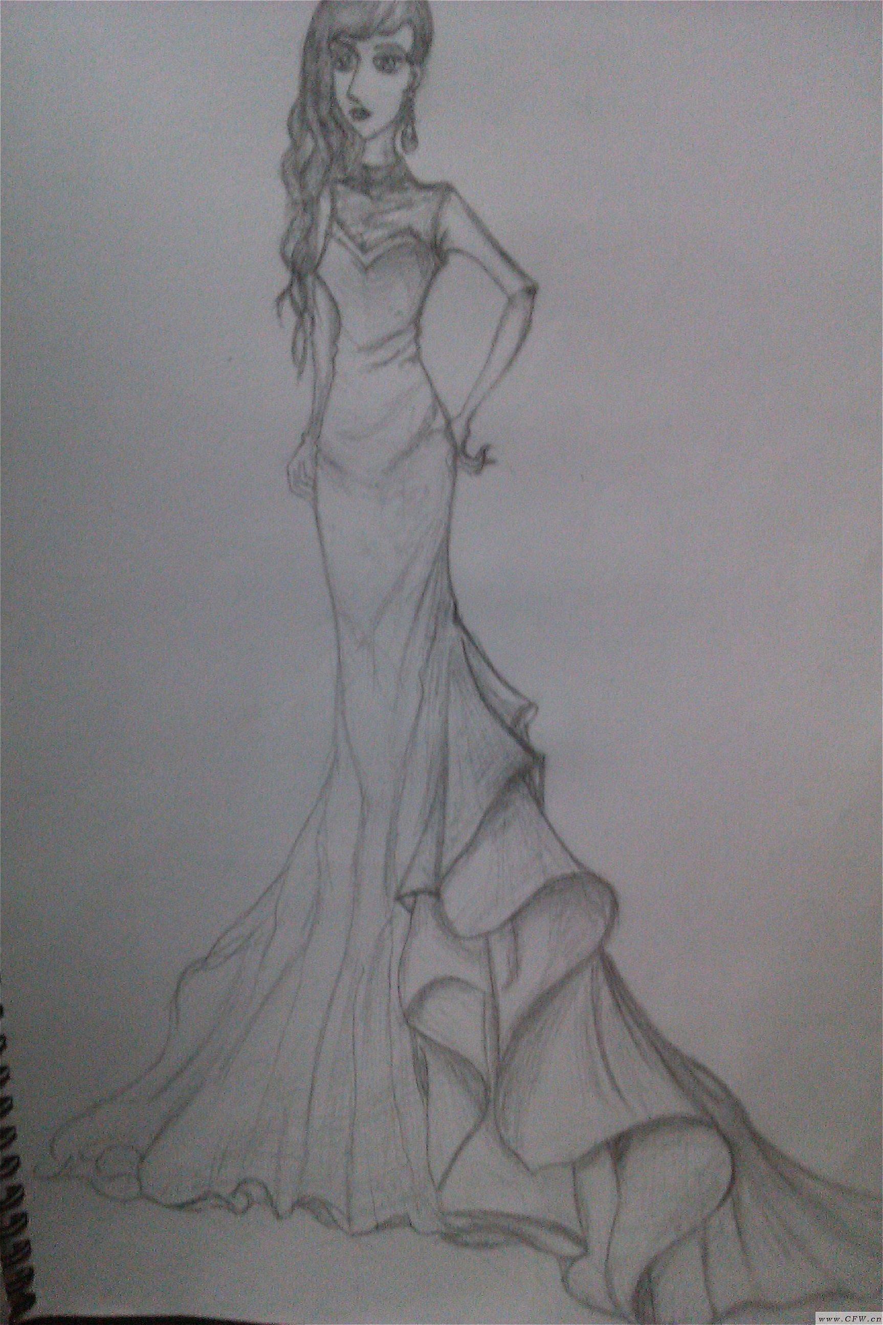 鱼尾式婚纱礼服