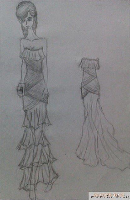 蛋糕礼服-婚纱礼服设计-服装设计