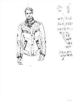 手绘效果图-男装设计-服装设计-服装网