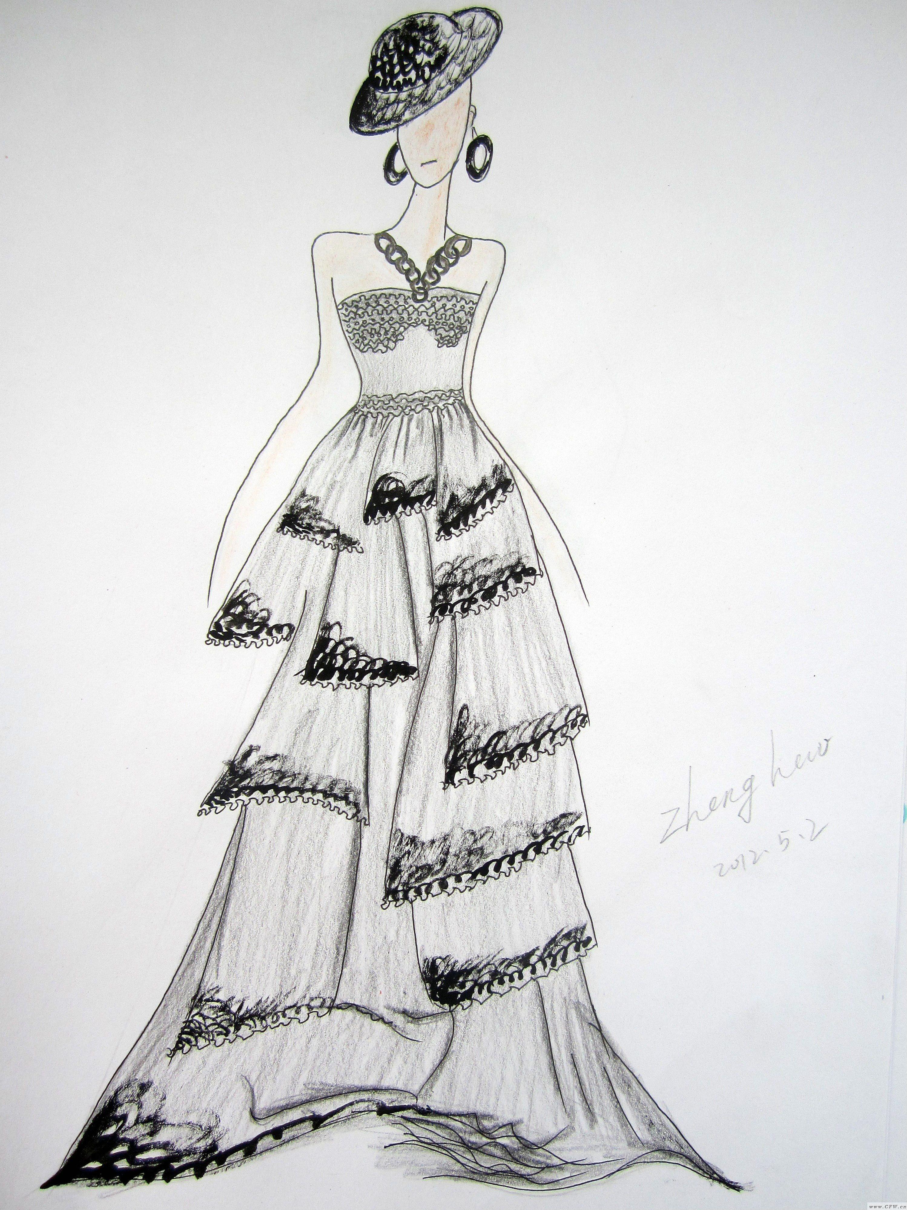玫瑰仿-女装设计-服装设计