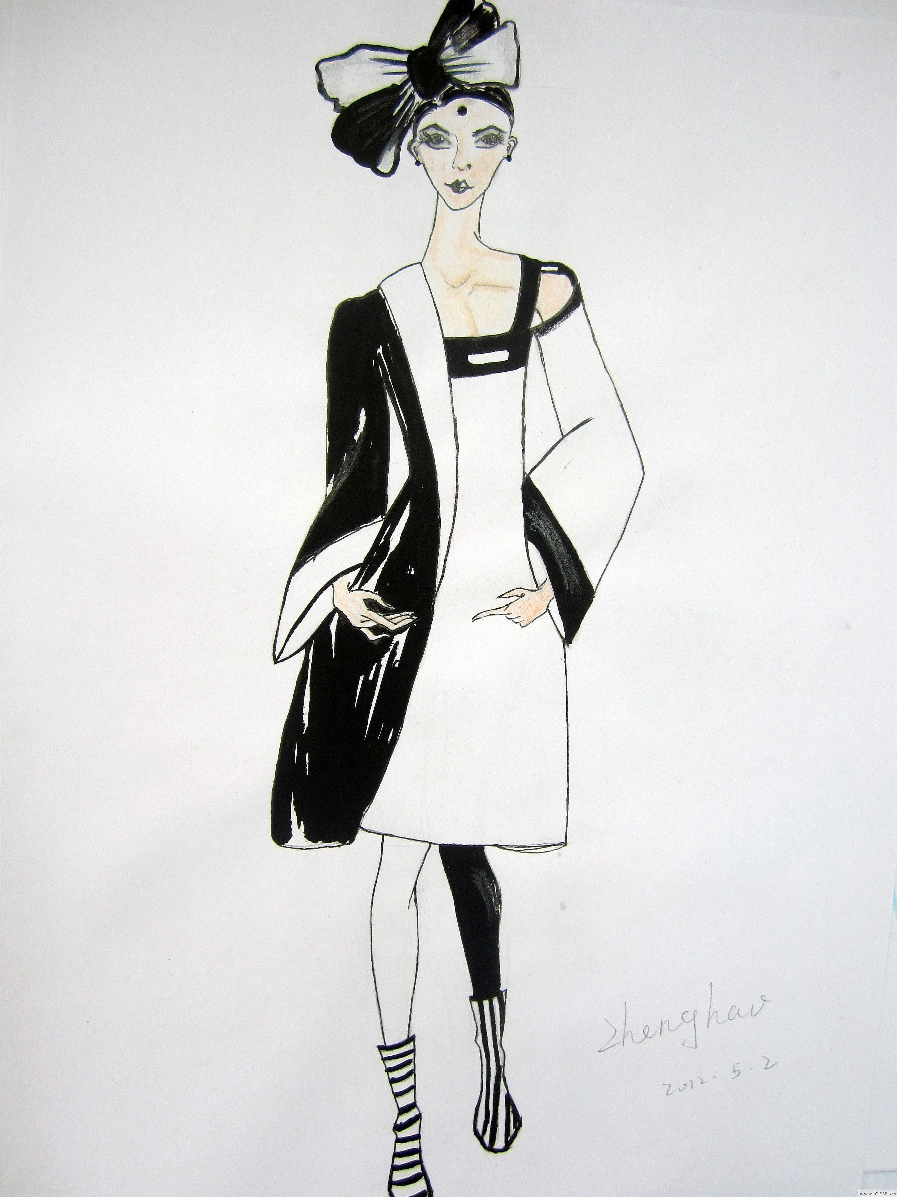 黑白间-女装设计-服装设计