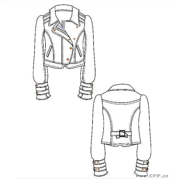 电脑绘图女装夹克-女装设计-服装设计