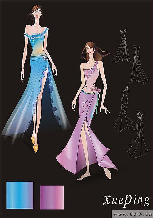 时尚女裙-女装设计-服装设计