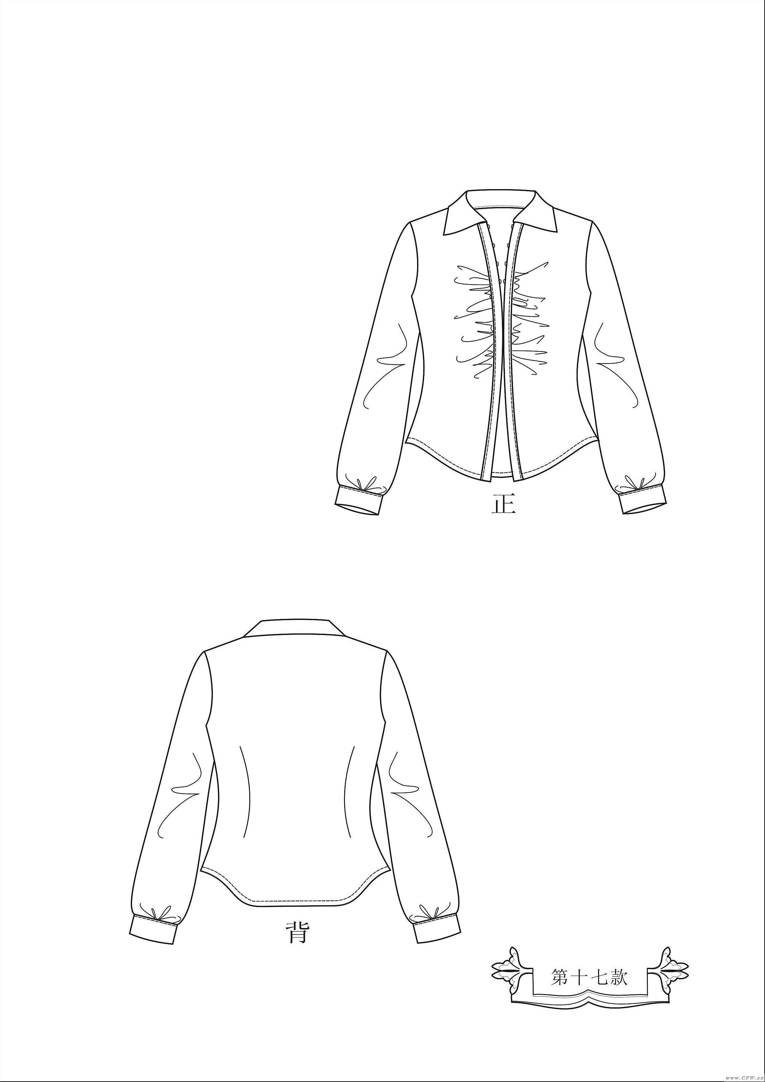 服装款式图结构图册-女装设计-服装设计