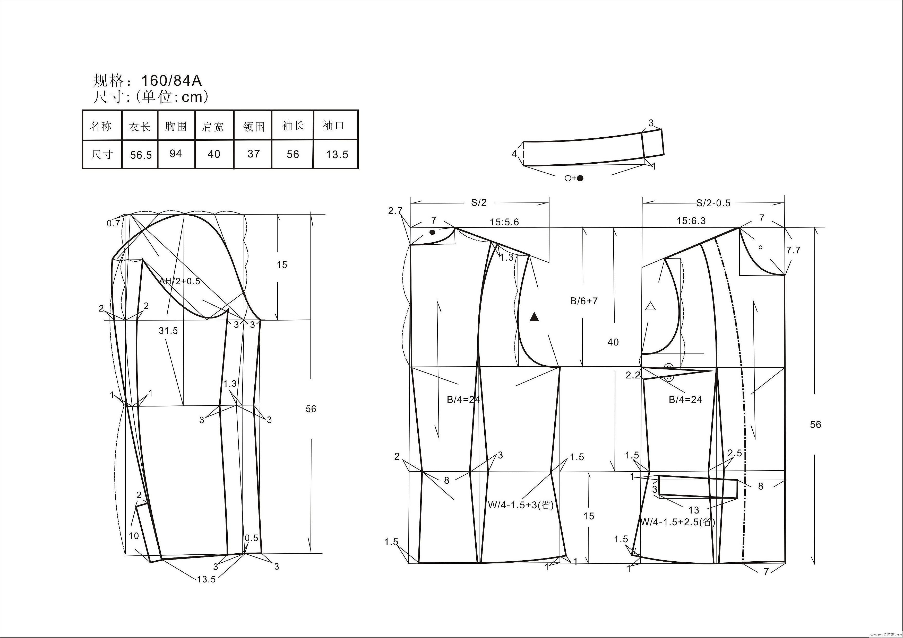 服装款式图结构图册