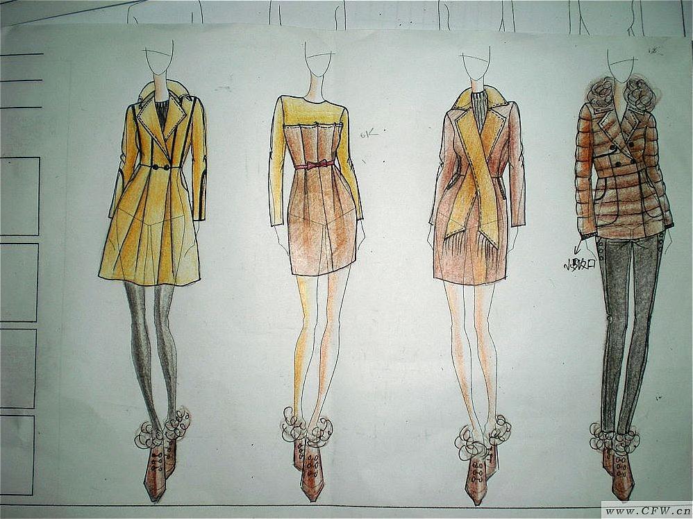 设计手稿-女装设计-服装设计