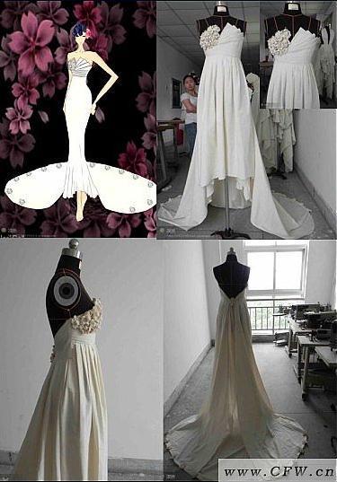 立体裁剪-婚纱礼服设计-服装设计图片