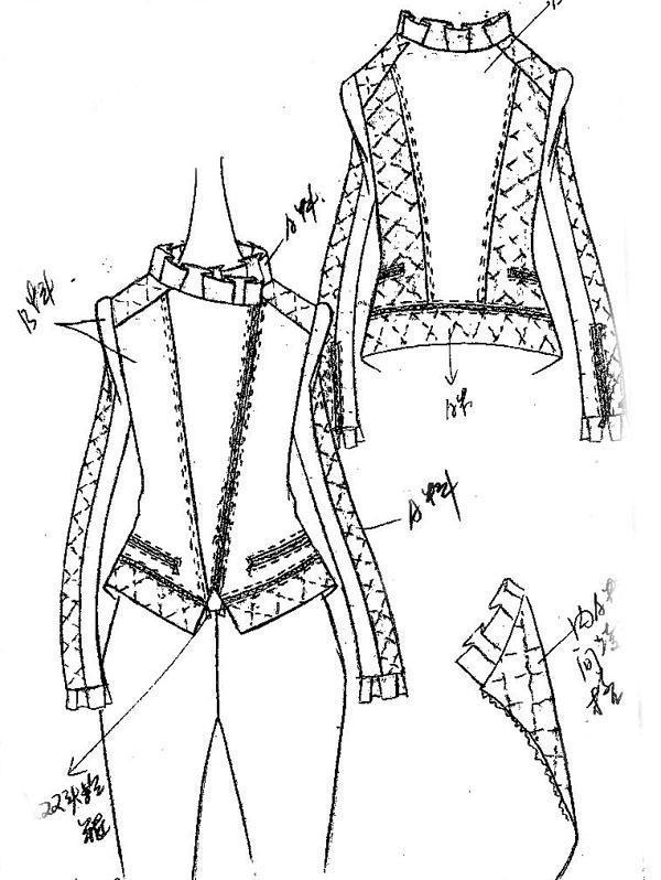 羽绒服手稿-女装设计-服装设计