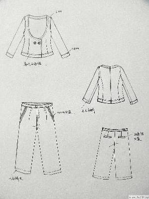手绘款式图-女装设计-服装设计-服装设计网手机版|触