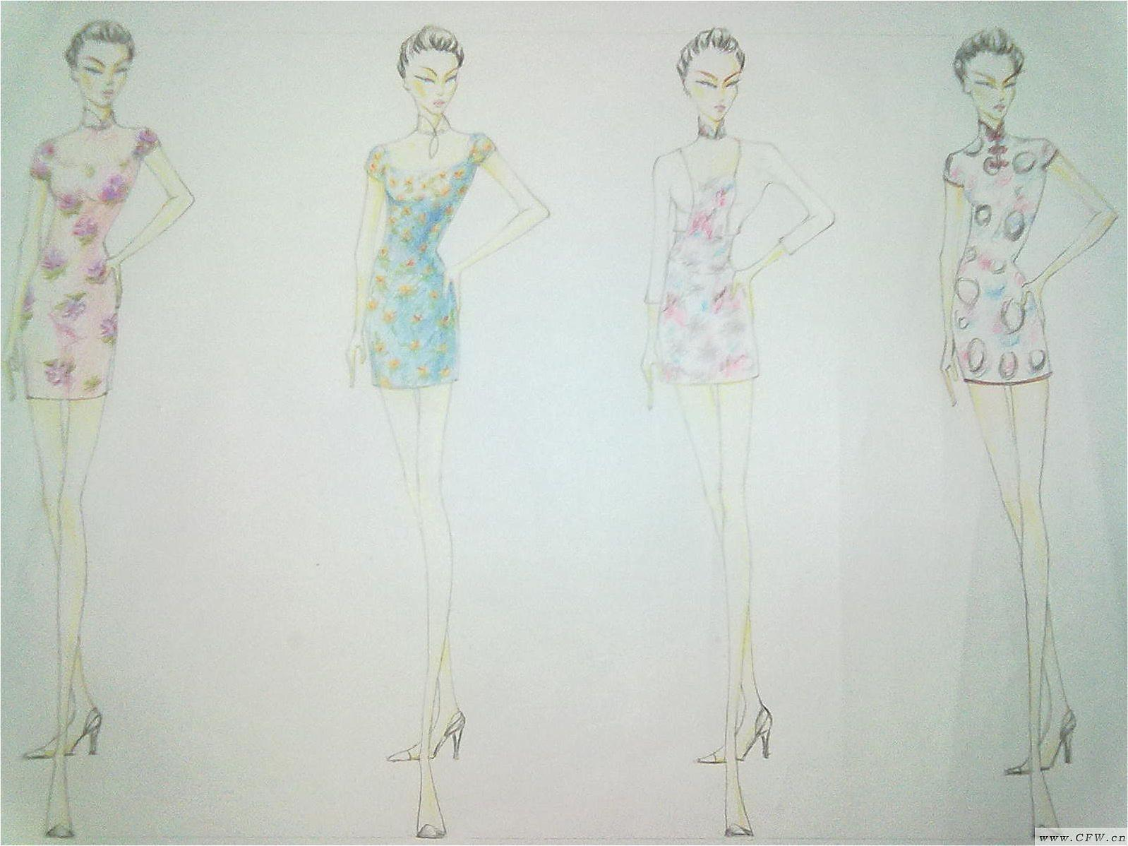 旗袍设计图