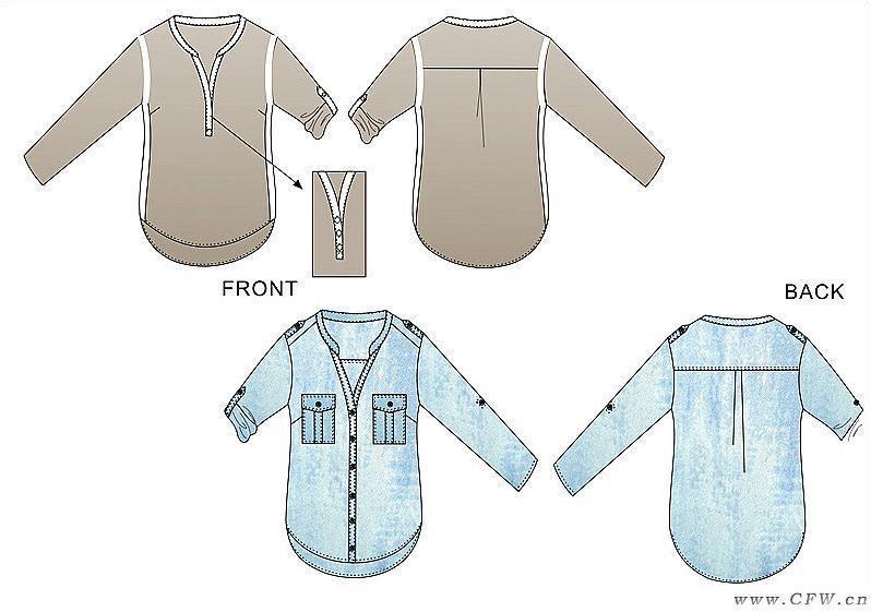 平面款式设计-女装设计-服装设计图片