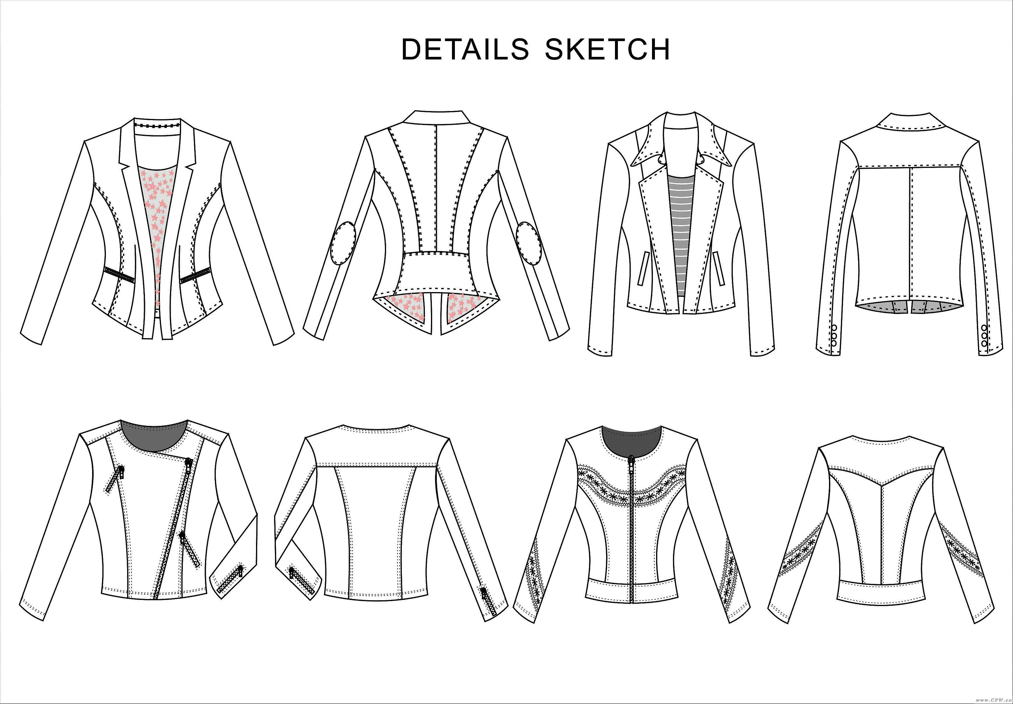 平面款式设计-女装设计-服装设计