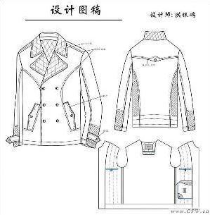 男运动装(校服设计图)-男装设计-服装设计-服装设计网