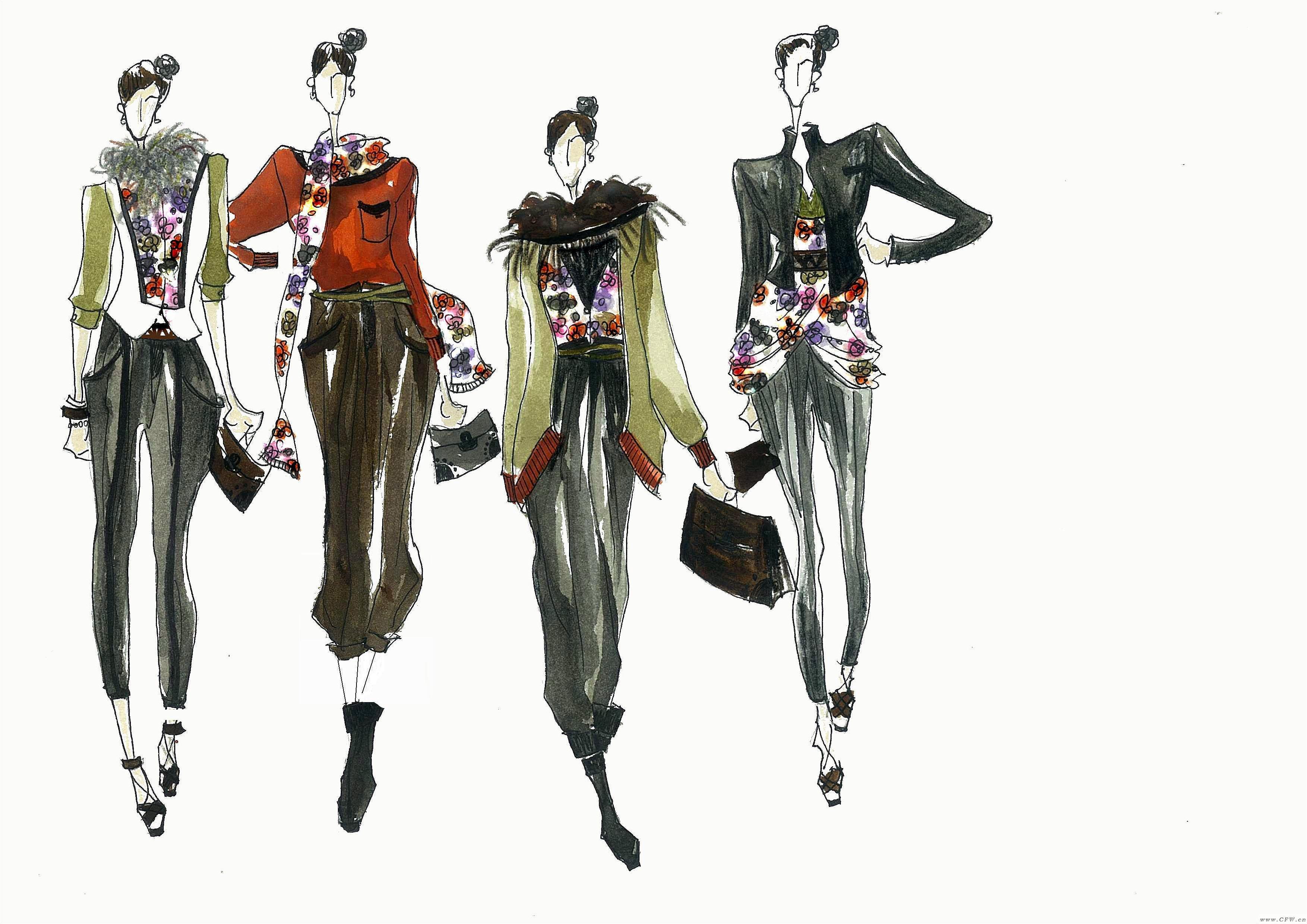 系列成衣效果圖-女裝設計-服裝設計