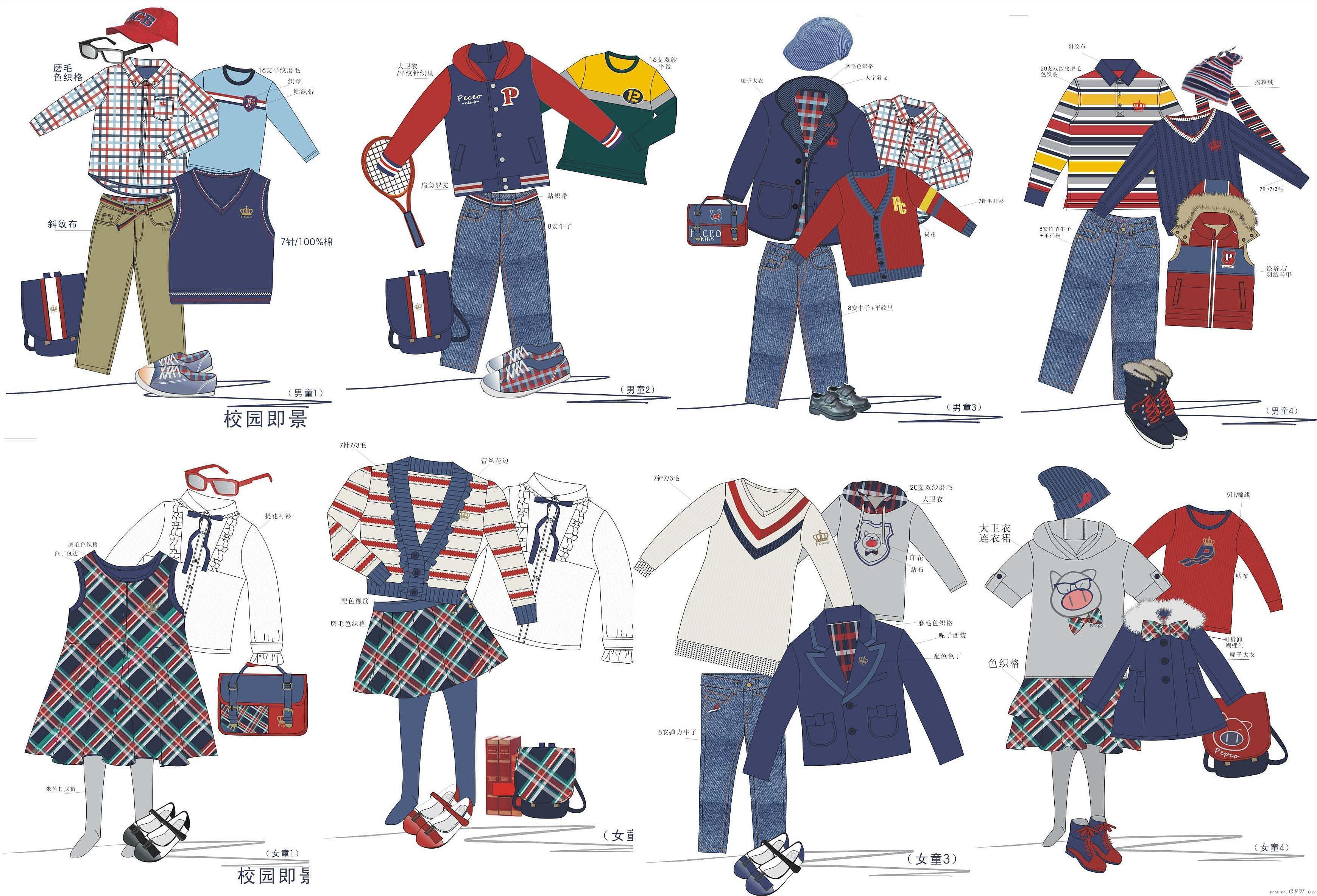校园系列(校服设计图)班服设计-童装设计-服装设计