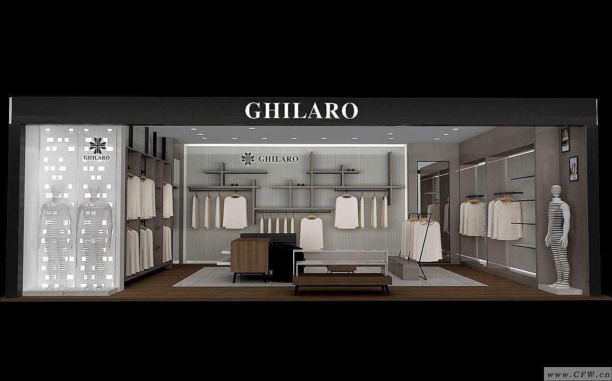 商场效果图-橱窗陈列设计-服装设计