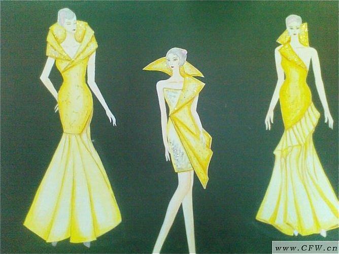 创意晚礼服-婚纱礼服设计-服装设计