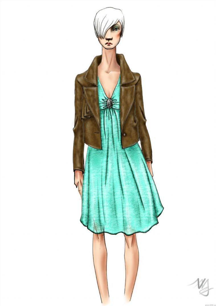 女装设计手绘图