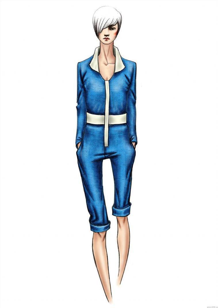 女装设计手绘图-女装设计-服装设计
