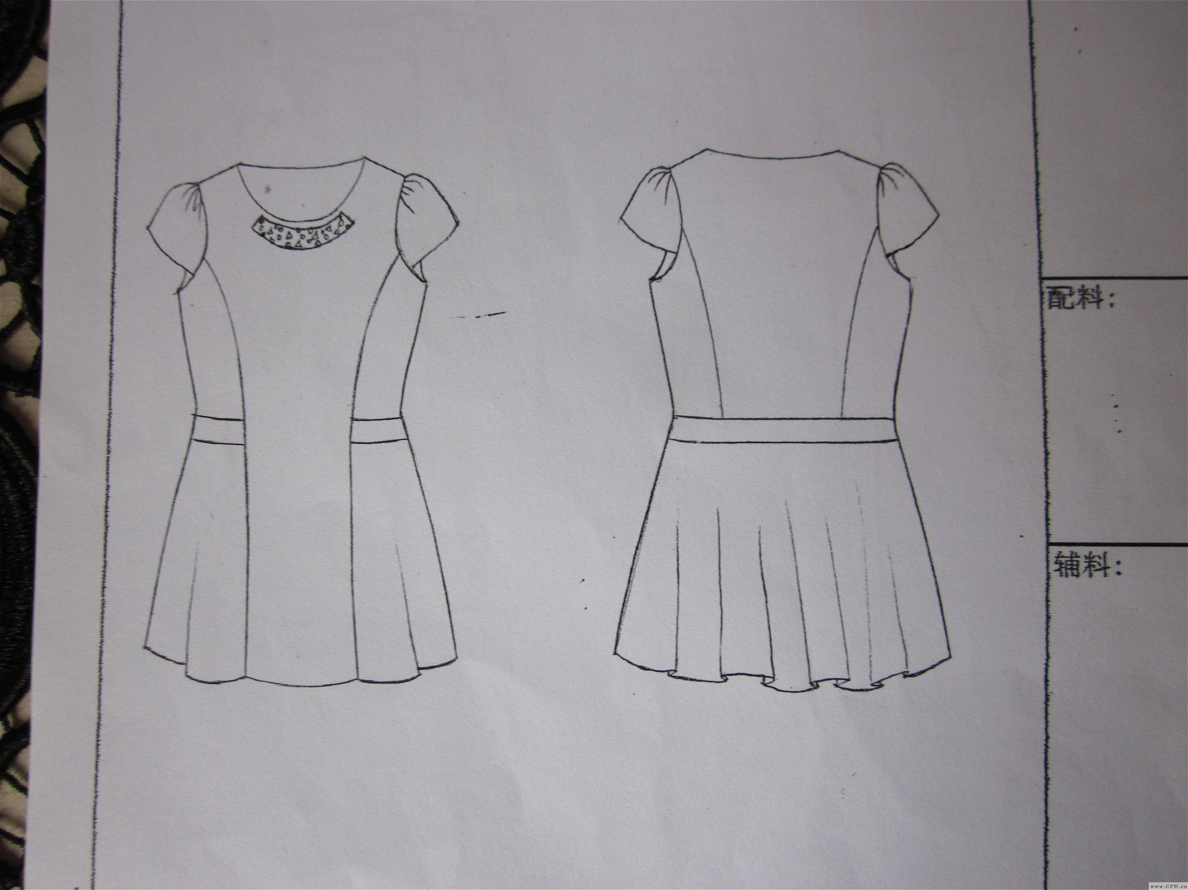 女装款式图-女装设计-服装设计