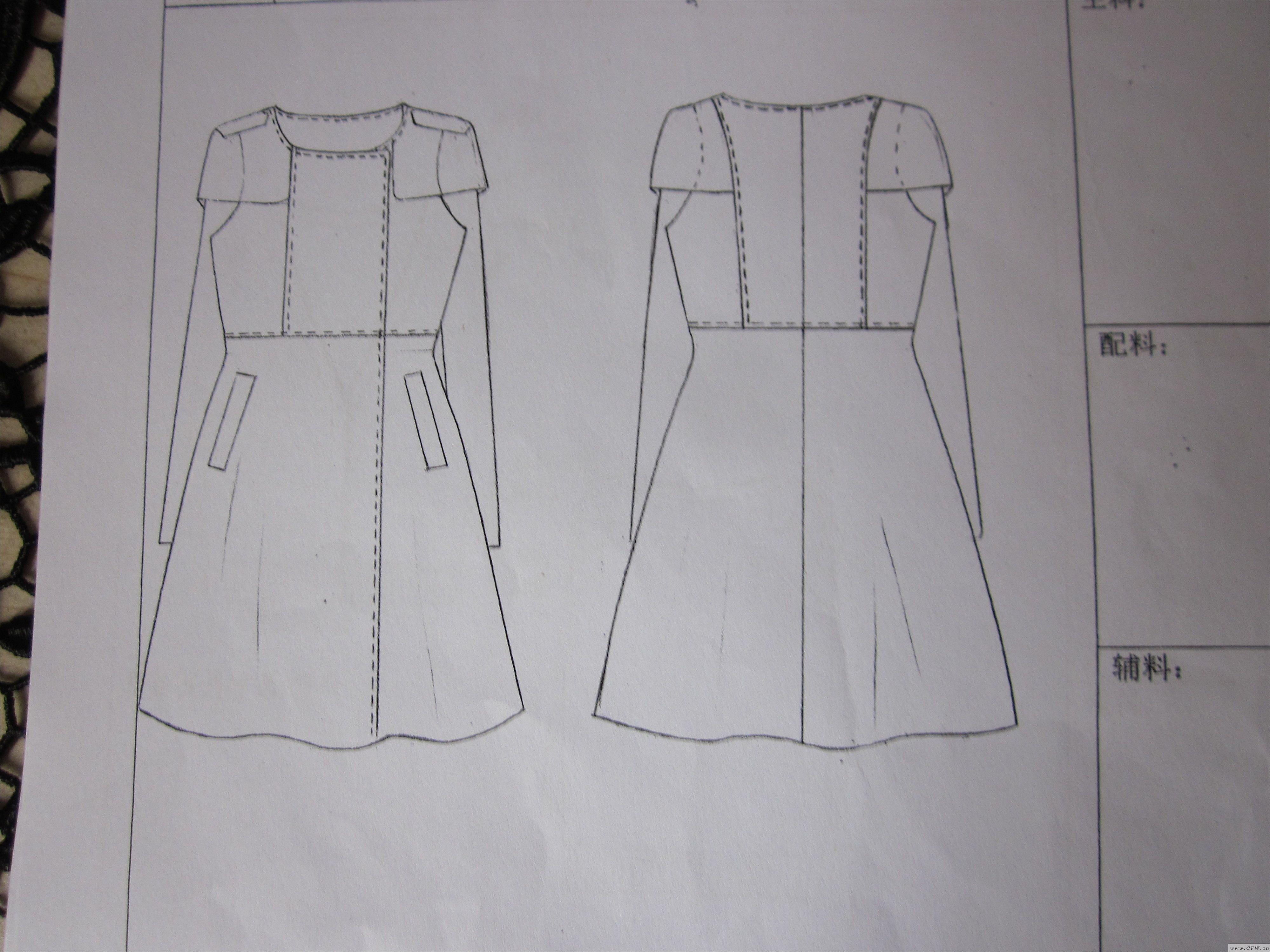 女装款式图-女装设计-服装设计图片