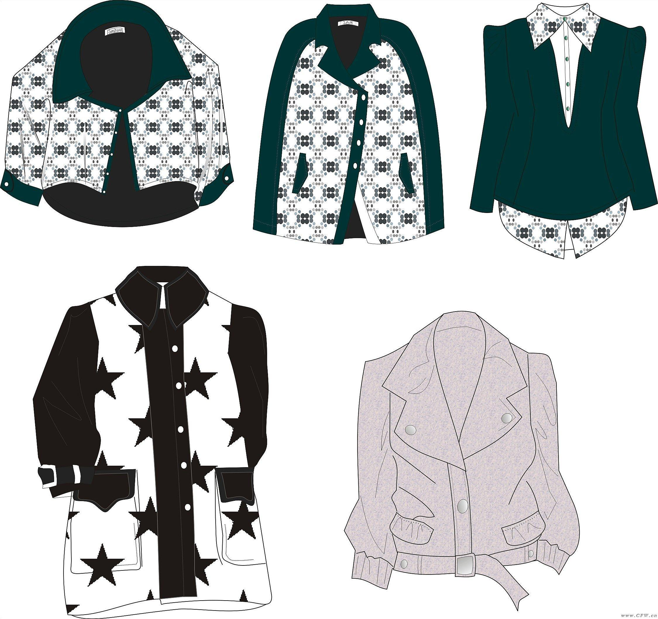 coreldraw绘图-女装设计-服装设计