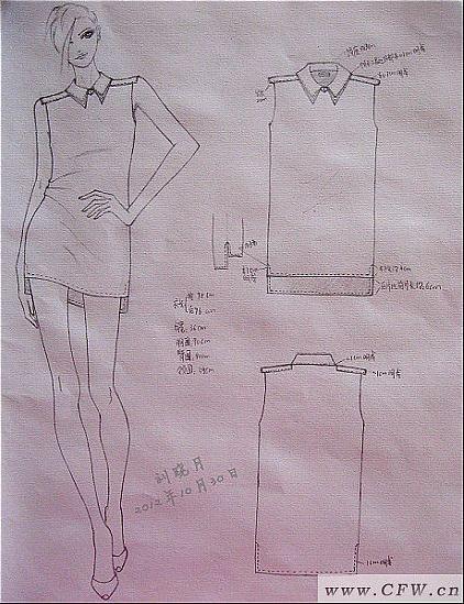 铅笔稿-简约连衣裙