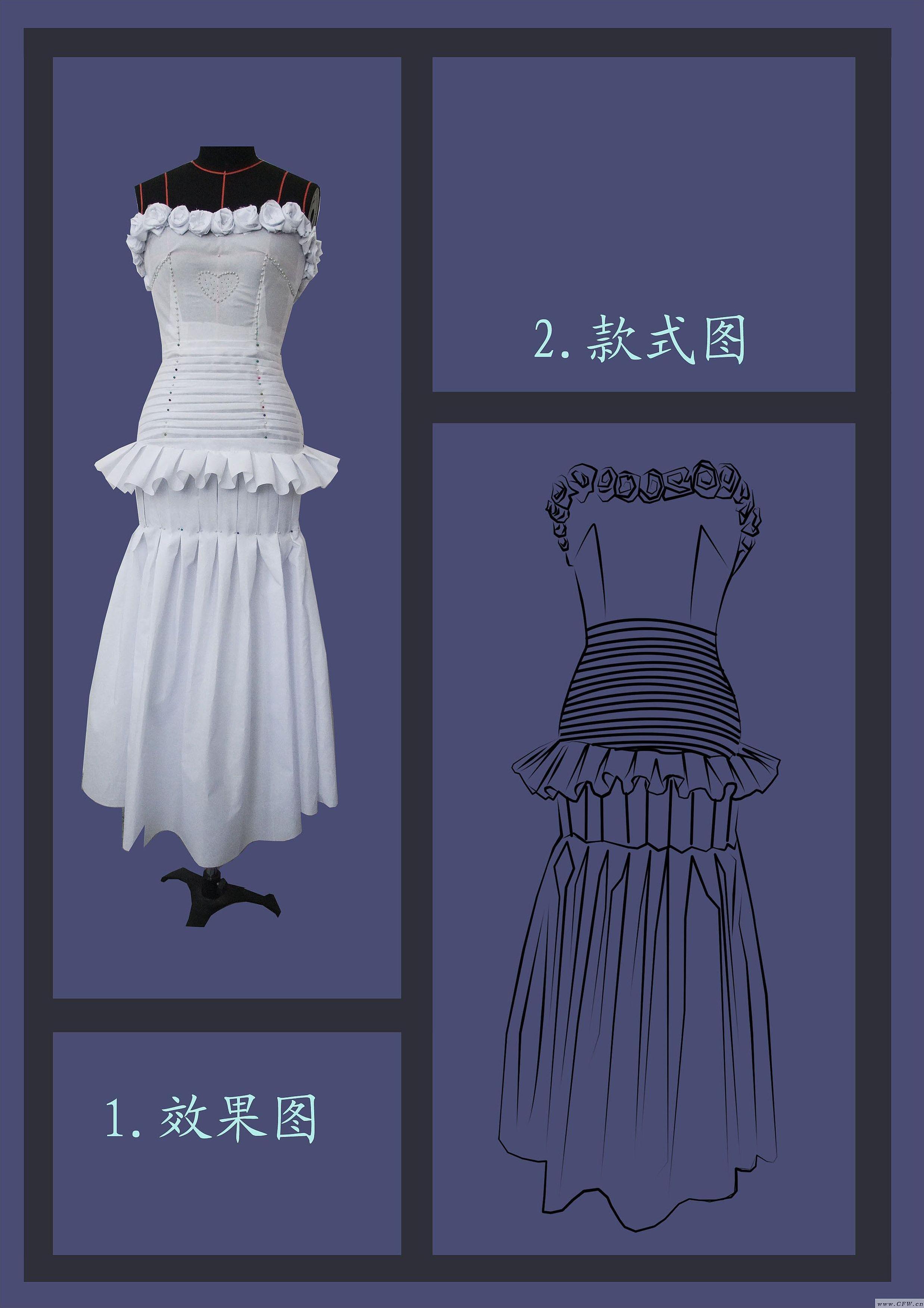 立裁 晚礼服作品-立裁 晚礼服款式图图片