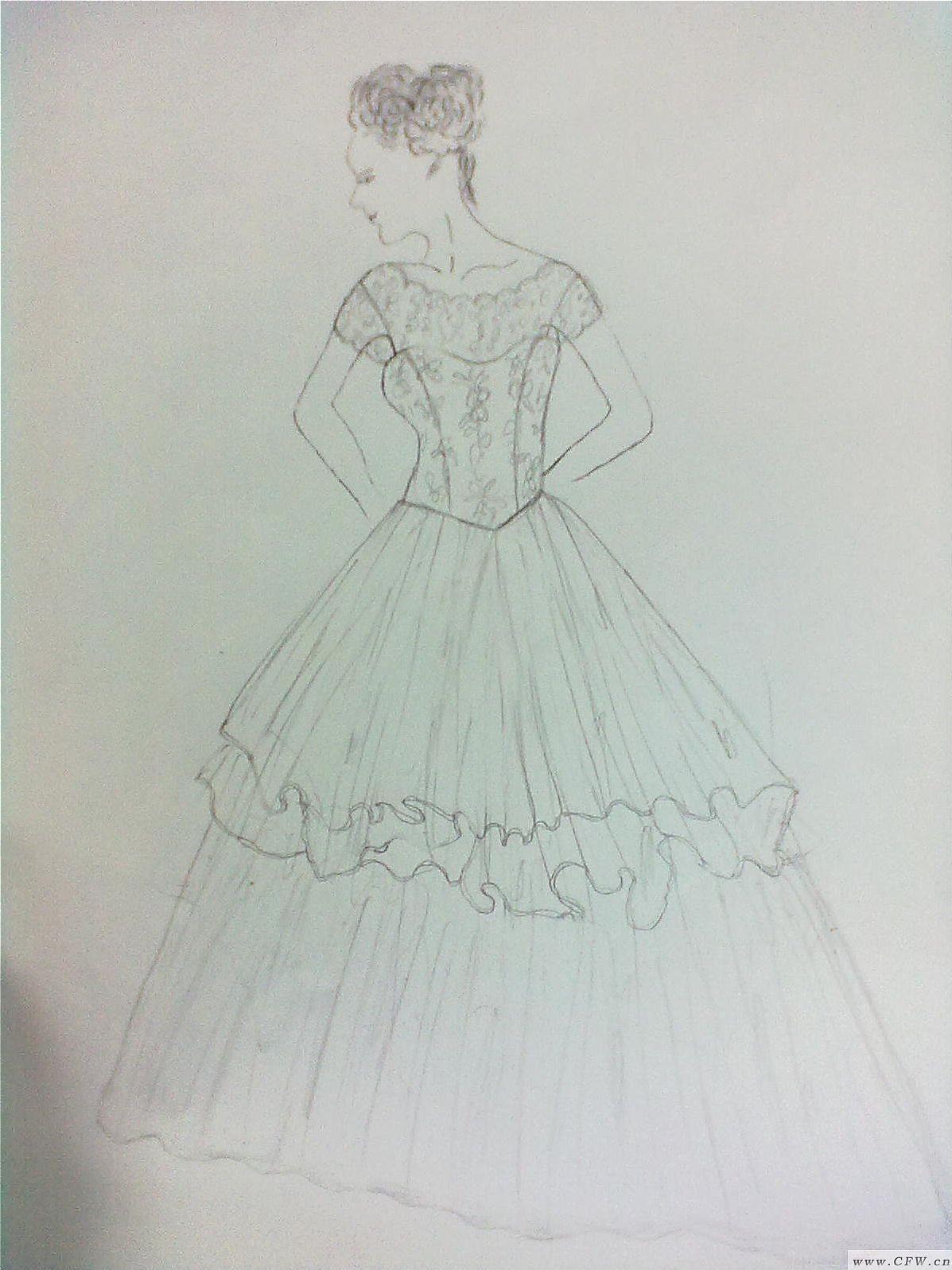 灰姑娘的梦-婚纱礼服设计-服装设计