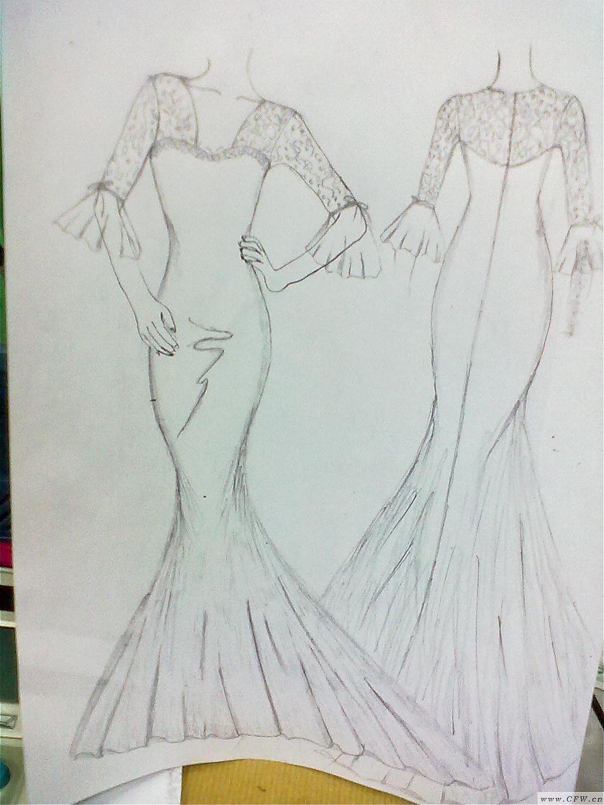 人鱼公主-婚纱礼服设计-服装设计