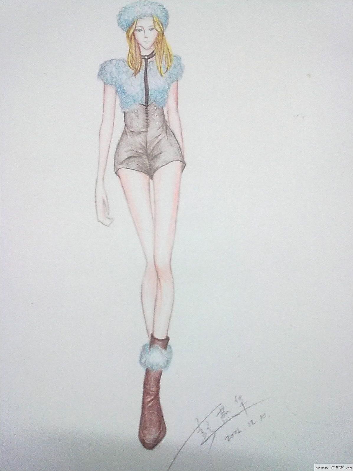 皮草也可以低调-女装设计-服装设计