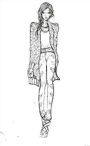 电脑手绘效果图-女装设计-服装设计-服装设计网手机版