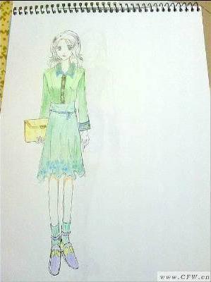 本人服装手绘图及平面效果图-女装设计-服装设计