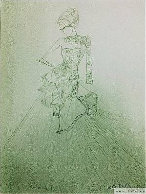 婚纱手稿图-婚纱礼服设计-服装设计-服装设计网手机