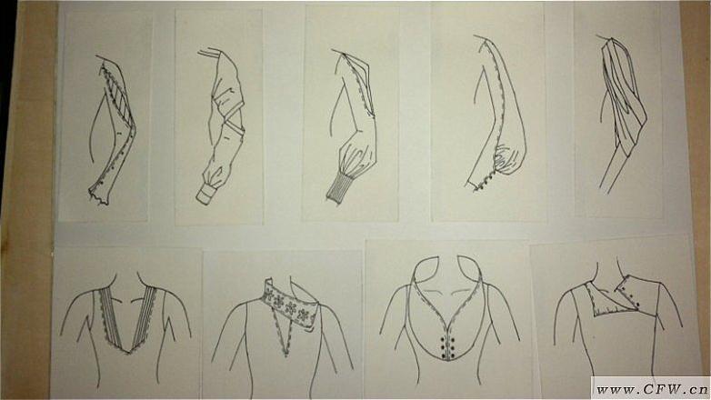 袖子领子款式设计图