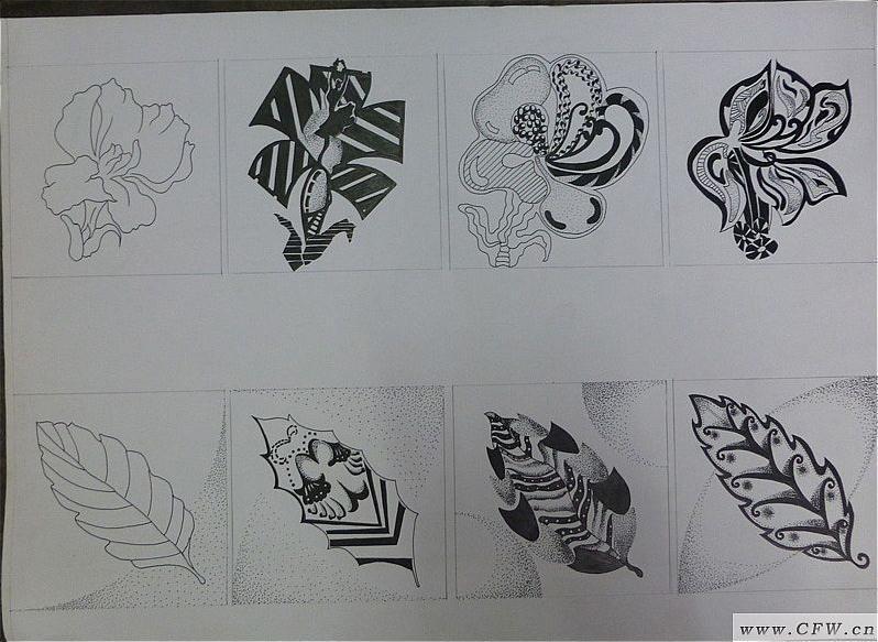 花卉变形-图案设计设计-服装设计