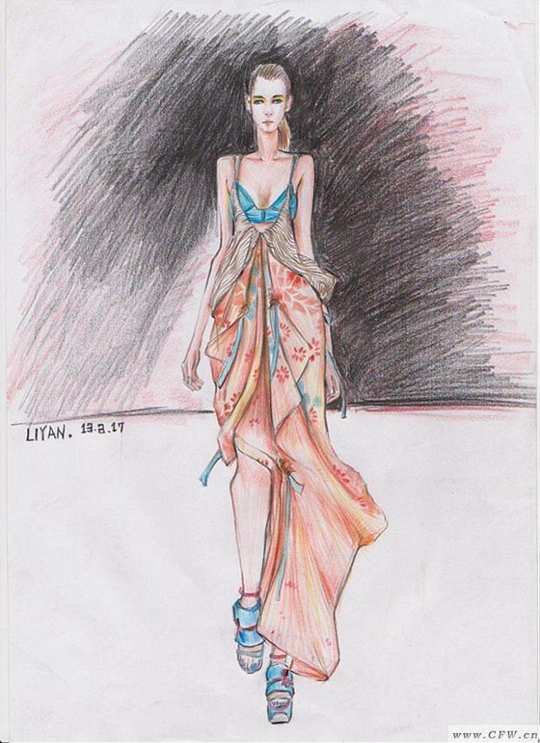 针织内衣品牌_时装画-婚纱礼服设计-服装设计