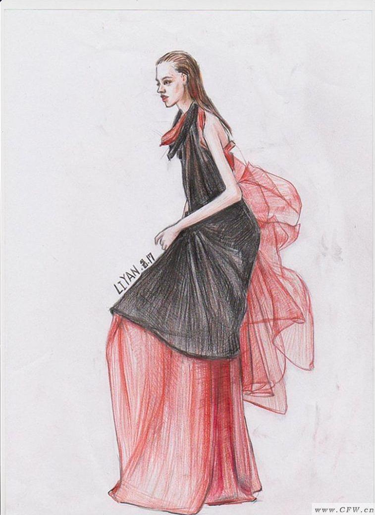 时装画-婚纱礼服设计-服装设计