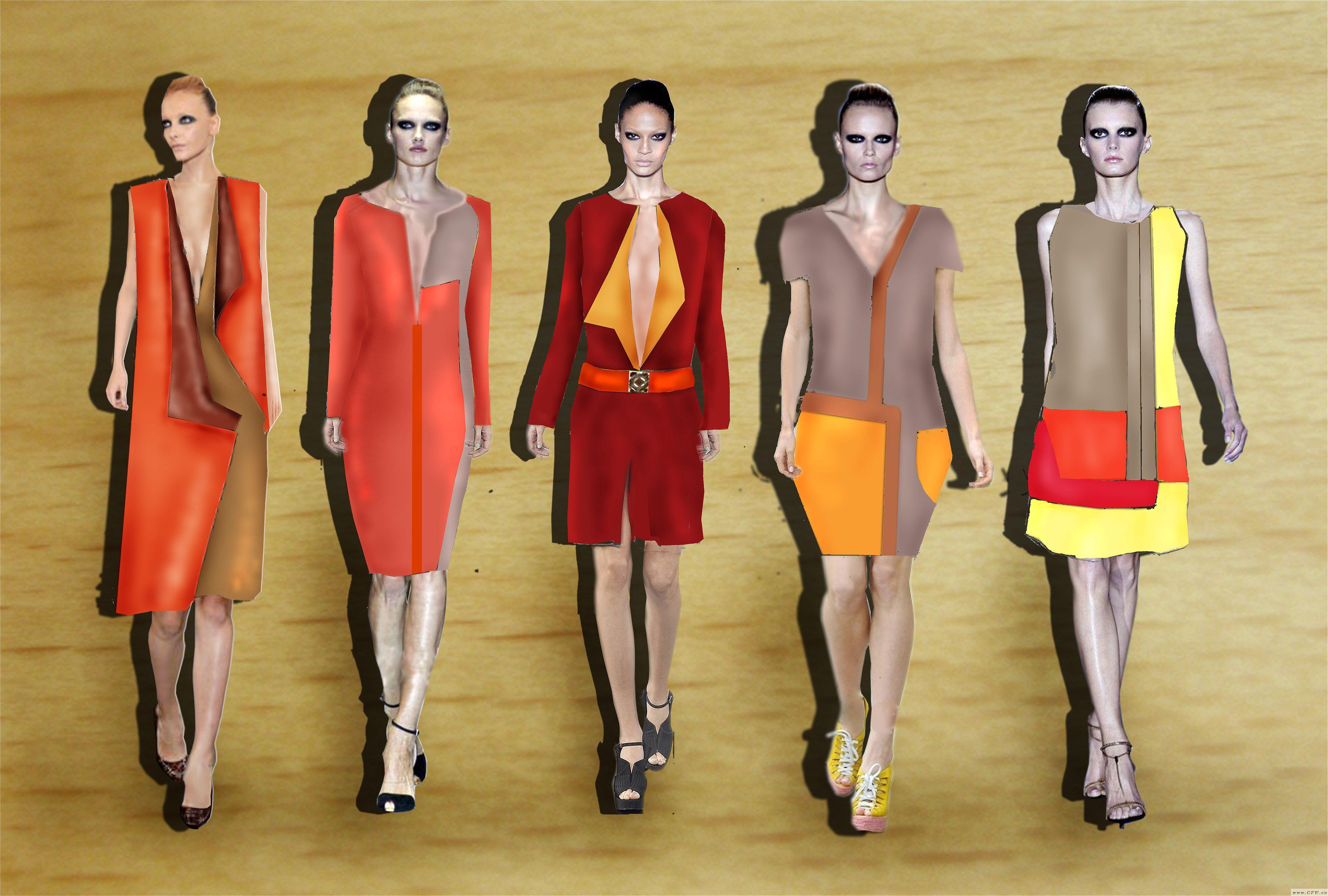 ps效果图-女装设计-服装设计
