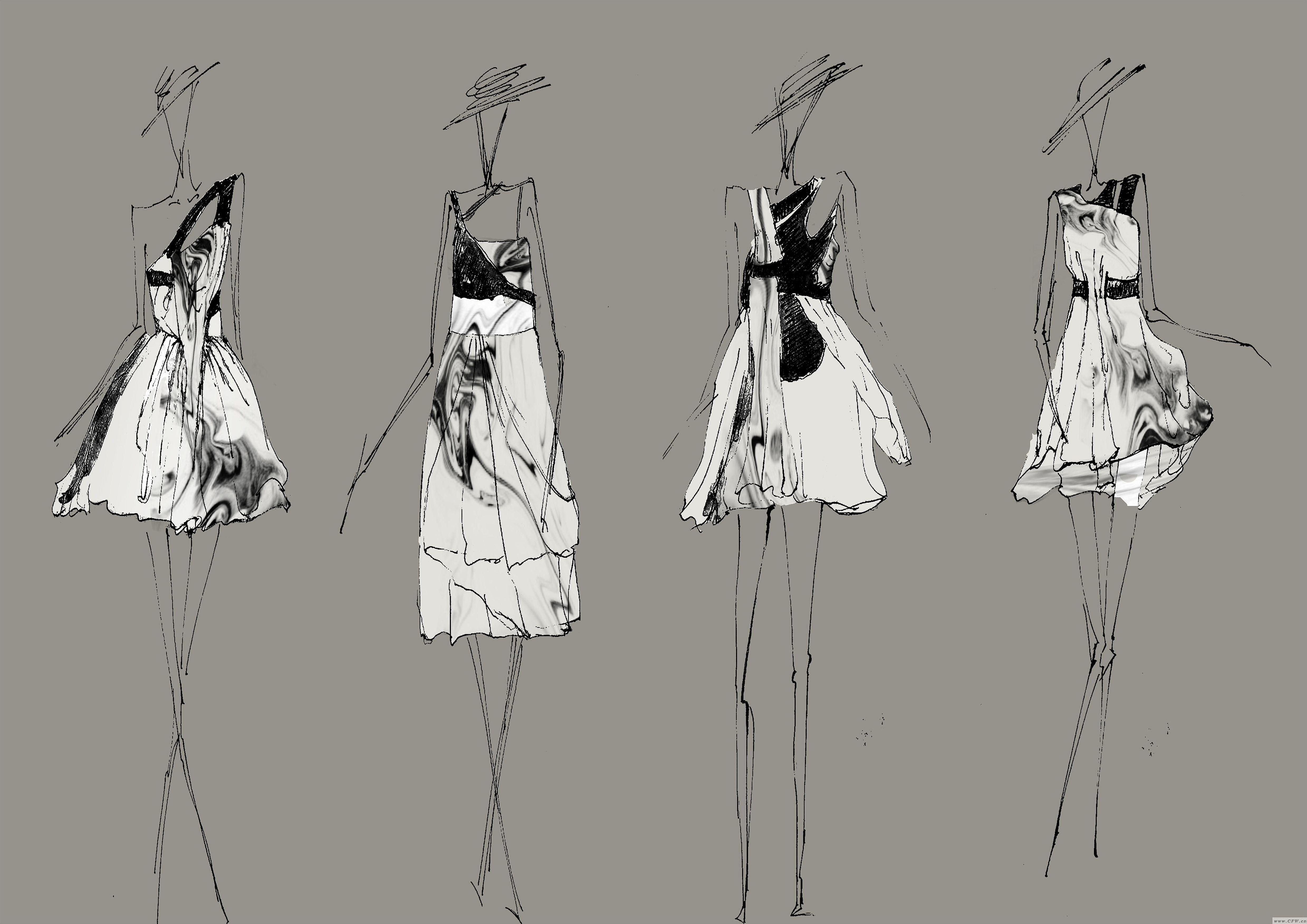 毕业设计效果图-女装设计-服装设计