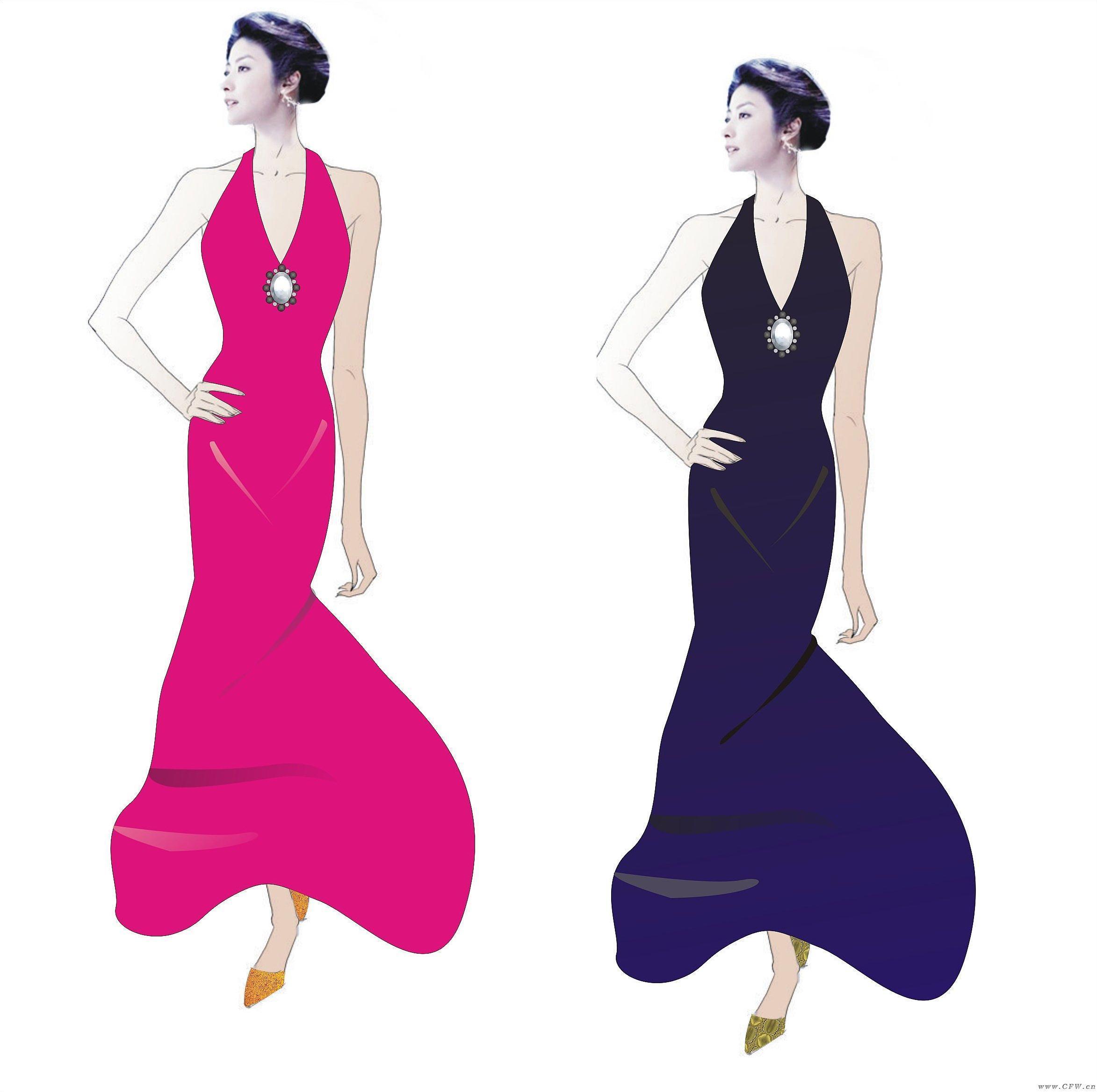 深v礼服-婚纱礼服设计-服装设计